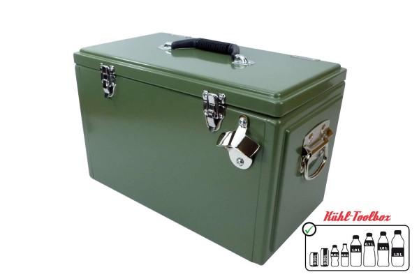 Retro-Kühlbox TOOLBOX Oliv
