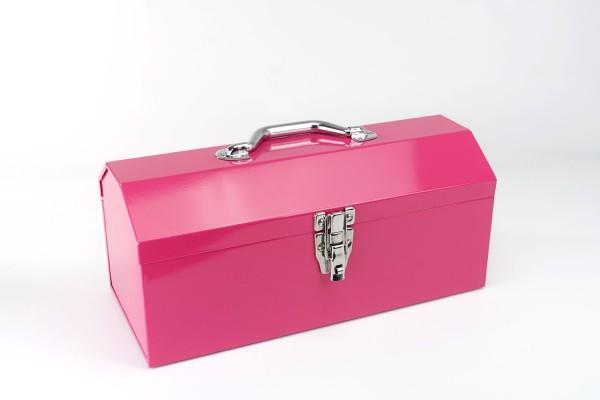 Große Toolbox aus Metall | Werkzeugkiste | Pink