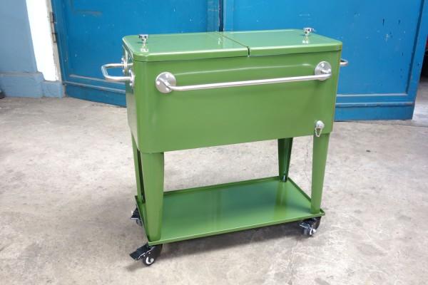 Retro-Standkühler Kühlbox MIAMI Oliv