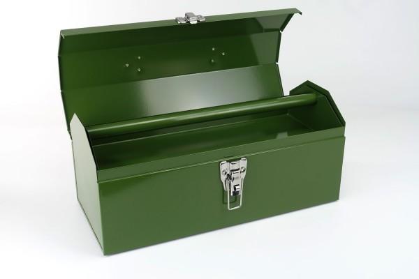 Große Toolbox aus Metall | Werkzeugkiste | Oliv