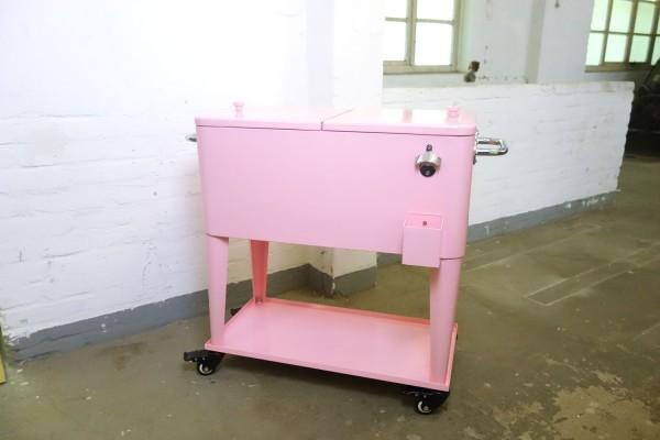 Retro-Standkühler Kühlbox MIAMI Rosa