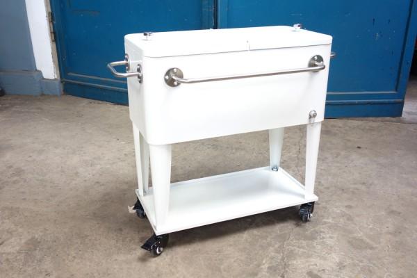 Retro-Standkühler Kühlbox MIAMI Beige
